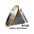 CHEMEX用ステンレスフィルター for 6cup