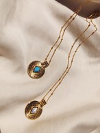 Howlite / Turquoise Stone Charm Necklace ストーンチャームネックレス