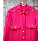 Pink pearl blouse【Made in Germany】