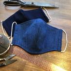 【送料無料】立体マスク ダブルガーゼ 藍染