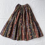 Ethnic pattern tiered skirt