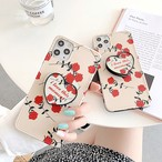 【オーダー商品】グリップ付き Cute rose iphone case