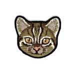 イリオモテヤマネコの刺繍ワッペン