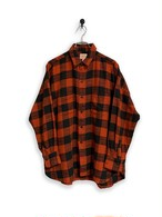 Block check flannel shirt / red
