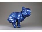 【限定生産】いきむ犬[bat ear]/Geisha blue(ラメ入り青)|限定カラー