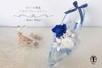 5色展開【ブルー×ホワイト】ガラスの靴風✳︎アクリルハイヒールフラワーアレンジメント✳︎プリザーブドフラワー 専用ボックス代・ラッピング代込み