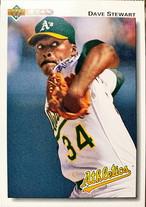 MLBカード 92UPPERDECK Dave Stewart #547 ATHLETICS