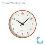 KATOMOKU plywood wall clock km-36LRC 電波時計