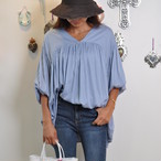 [ginger and sprout] GATHERED FLARE TOP