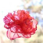 カーネーション 赤とオレンジ|カラフルオーガンジーのアートフラワー【造花】