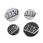0867 / 4 badge Pack (Set of 4 badges) / Blockbuster / Logo