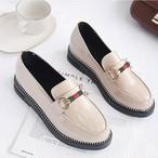 【shoes】厚底定番合わせやすいイングランド風海外トレンド人気シューズ