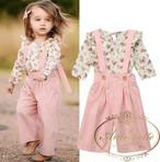 花柄 女の子 子供服 ピンク セットアップ