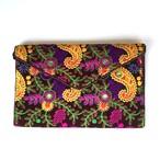 刺繍クラッチ(ブラウン)