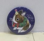 萩岩睦美イラスト缶ミラー(クリスマスバージョン)