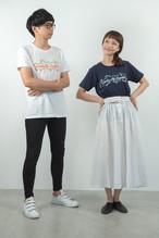 ロゴTシャツ ( ホワイト / ネイビー )