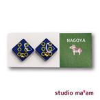 ■NAGOYA-19  ピアス。しかく。〜イヤリング変更可〜