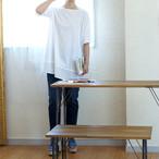 ナノ加工・裾切替えロング丈Tシャツ *セ・パ・グラーヴ