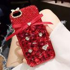 iPhoneケース 人気 女性 韓国 流行 海外 スタッズ グリッター リボン