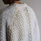 is-ness【 unisex 】mosaic knitted sweater