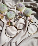 pale green × clear pink × aurora × big gold ring  《再販なし》