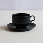 【SLSET-0053】磁器 カップ&ソーサー ブルー・ブラック