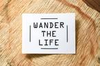 WANDER THE LIFE カッティングステッカー[black]