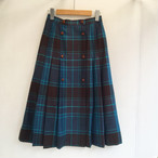 Christian Dior check pleats skirt (set up)