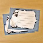 メッセージカード シャム猫 ME06