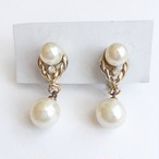 pearl dangle earring[e- 966]