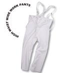 High waist wide work pants [beige]