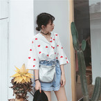 【新作10%off】heart printed girly blouse 2781