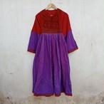 Vintage アフガニスタン コットンドレス RED×PURPLE
