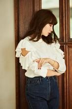 Open Shoulder Cotton Pullover