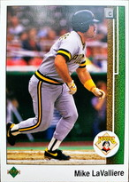 MLBカード 89UPPERDECK Mike LaValliere #417 PIRATES