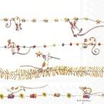 【IHR】バラ売り2枚 ランチサイズ ペーパーナプキン MICE GARLAND ホワイト
