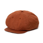 "Just Right ""Sports-Newsboy Cap Heavy Linen Ox"" Brown"