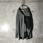 [used] grey × black switching shirt