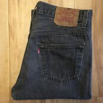 """Levi's 501  BLACK W30 inch """"MADE IN USA"""" <Used>"""