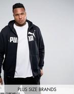 大きいサイズ【PUMA PLUS】プーマ・ロゴ パーカー ブラック