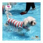 10。ITSDOG【正規輸入】犬 服 水着 袖なし ブルー ピンク UV遮断 夏物