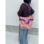 【sandglass】duffle bag(M)pink beige / 【サンドグラス】ダッフルバッグ(M)本体ピンクベージュ