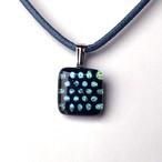 青の水玉(小)ネックレス