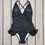 Bikini♡バッククロスモノキニ ブラック GSB18S040BLK