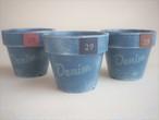 Macherie*オリジナルリメイク鉢「Denim(デニム)」2.5号素焼き鉢