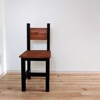NEWカラー*Chair / ブラウン×ブラック / チェアー / 背もたれ椅子 / 飾り台にも 【国産紀州材使用】