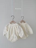 【予約販売】Rachel baby-suit【baby】〈Aosta〉