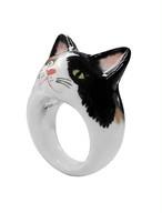 NACH アニマルリング 黒白猫