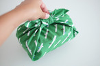 ハンカチ・お弁当包み「小枝」グリーン