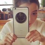 シック スマイル にこちゃん iPhone ケース ( ブラック & ゴールド ) ★ iPhone 6 / 6s / 6Plus / 6sPlus / 7 / 7Plus ★ [KS008]
